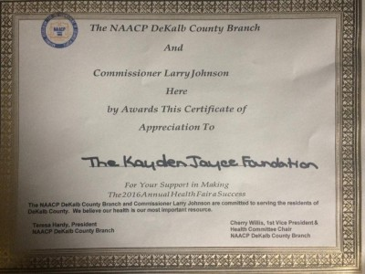 Awards from The NAACP and Commissioner Johnson